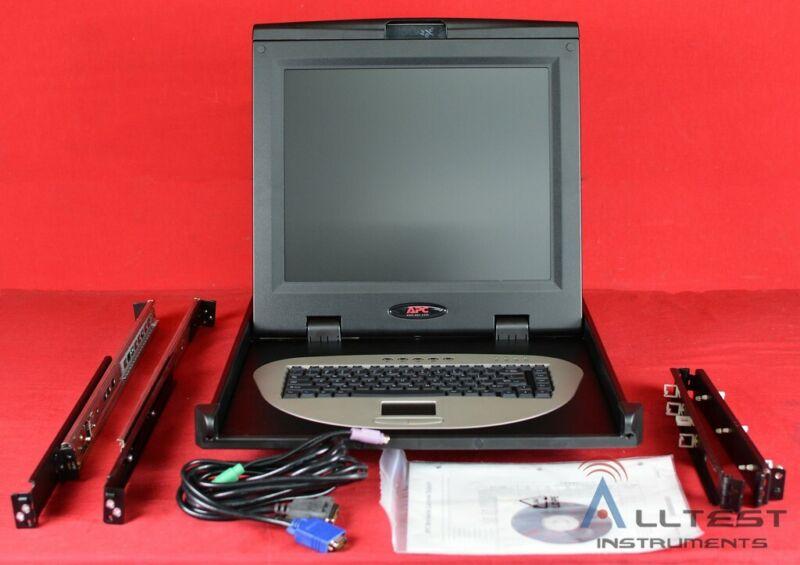 APC AP5017 Rack Mount LCD Monitor Keyboard Console KVM 1U