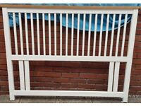 headboard for double-size bed. High quality solid oak wood product. Excellent, almost new condition
