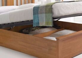 🔴🔵QUICK DELIVERY🔴🔵-- Brand New Finish Wooden Ottoman Storage Bed in Double and King Size