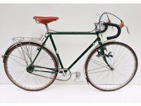 Vintage Chas Roberts bespoke steel 531 touring bicycle