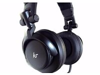 KS DJ headphones, with powerful 50 mm drivers (in excellent condition with minimal use)