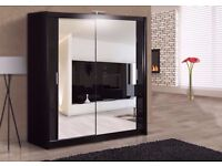 BRAND NEW MODERN DESIGN SLIDING WARDROBE MADRID - 120 /150 /180 / 203 CM *** FREE NEXT DAY DELIVERY