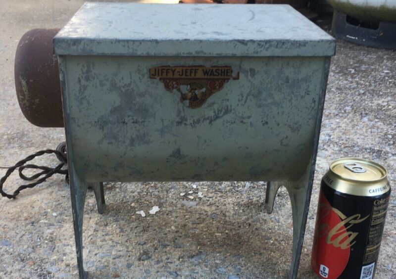 Vintage Jiffy Jeff Miniature Washing Machine Salesman Sample? RARE! 1920's-1930