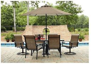 Garden Oasis Harrison 7 Piece Dining Set Furniture Patio Outdoor Table  Chair New. Forest Dining Pergola