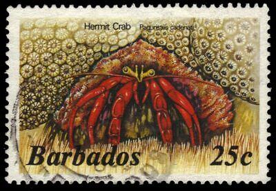 """BARBADOS 646 - Hermit Crab """"Paguristes cadenati"""" 1985 Printing (pb20523)"""
