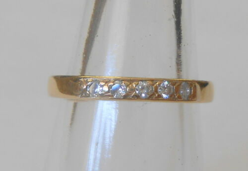 Brilliant 5 Diamond 20 Point Stackable 14K Yellow Gold Wedding Band Ring Size5.5
