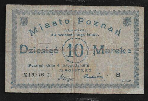 Poland  10 Marek 1919  Poznan