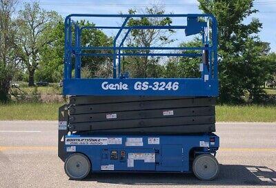 Genie 3246 Electric Scissor Lift Refurbished Warranty - Dealer   Ie Jlg