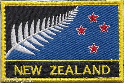 New Zealand Proposed Flag Embroidered Rectangular Patch Badge