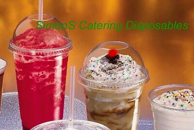 CLEAR 12oz SMOOTHIE CUPS & DOMED LIDS WITH HOLE + FREE JUMBO STRAWS & DELIVERY