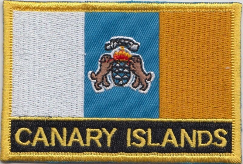 Spain Canary Islands Flag Embroidered Patch - Sew or Iron on