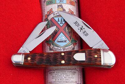 Great Eastern Northfield #38 Burnt Orange Bone English Whittler Knife 380321 GEC