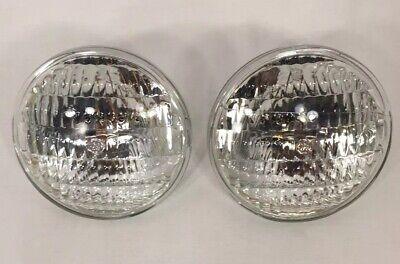 2 Nos Tractor Headlights Bulb Beam Light Lamp 35w 12v 4.5 Ge 4411 New Old Stck