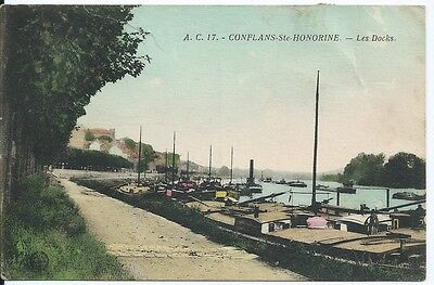 CPA -78 - Gonflans-Ste-Honorine - the Docks