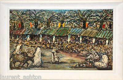 Antonio Fuentes Original Oil Painting  Morocco Tangiers Paris Friend Of Picasso