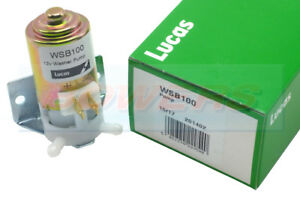 LUCAS WSB100 UNIVERSAL CLASSIC CAR MINI MG 12V WINDSCREEN WASHER PUMP AS GWW125