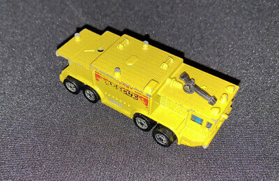 HOT WHEELS WORKHORSES YELLOW AIRPORT RESCUE TRUCK MADE IN HONG KONG 1979