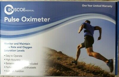 Roscoe Fingertip Pulse Oximeter New In The Box Free And Fast Usps Shipping