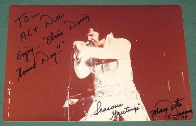 Elvis Presley Color Concert Photo 1974 5 x 7 Original