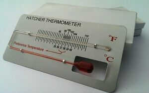 Traditional INCUBATOR HATCHER THERMOMETER Red Liquid