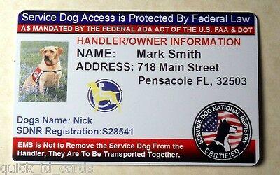 Custom ID Card / Badge for Working Dogs & Handler Certified