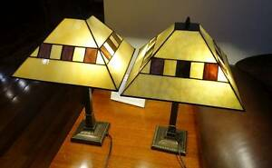 Leadlight table lamps with solid metal base. Sandringham Bayside Area Preview