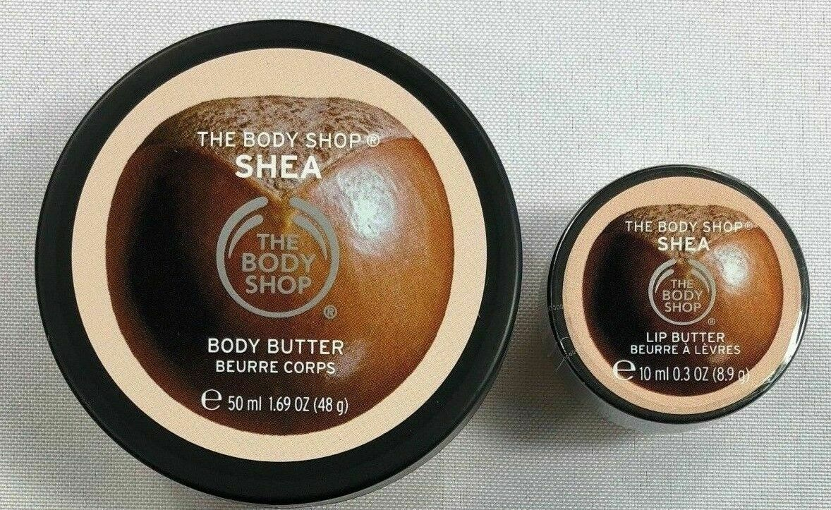 The Body Shop Shea Body and Lip Butter Set NEW BJ