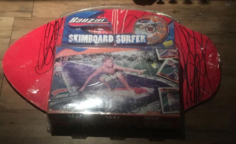NEW BANZAI SKIMBOARD SURFER WOOD BOARD SLIP N SLIDE 26