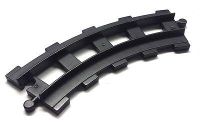 1x Lego® DUPLO Schiene 4562 gebogene schwarz Eisenbahn Schiebezug Zug Lok LD#3