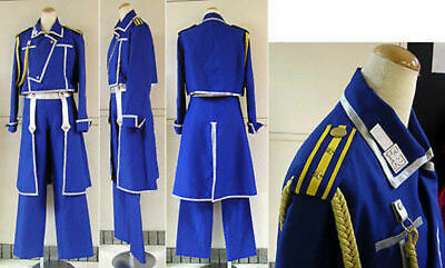 FullMetal Alchemist Cosplay Roy Mustang Uniform Costume Custom Any Size](Any Costume)