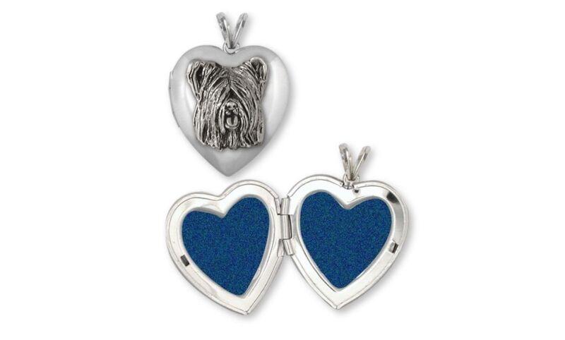 Skye Terrier Photo Locket Jewelry Sterling Silver Handmade Dog Photo Locket SKY4