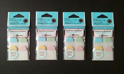 Lot Of 4 Martha Stewart Office Note Tabs Notetabs Pastel Avery 4 Packs