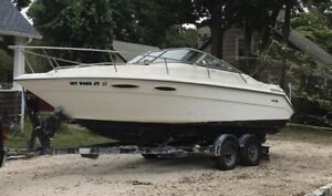 1989 Sea Ray CC 230 with Load Rite Roller trailer 7.4 Mercruiser