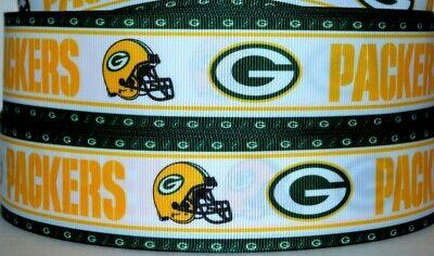 Green Bay Packers Ribbon (Grosgrain Ribbon 7/8