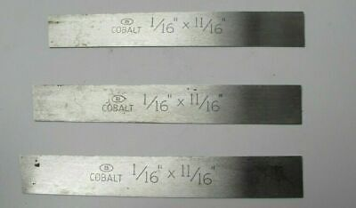 Lot Of 3 Besly Cobalt 116 X 1116 X 5 Rectangle Lathe Tool Cutting Bits New