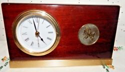 VINTAGE ARIZONA STATE UNIVERSITY SUN DEVILS EMBLEM~QUARTZ DESK/MANTLE CLOCK~ASU~