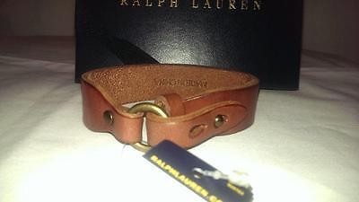 Ralph Lauren Polo Mens Womens Leather stuudded collar bracelet  NIB $40