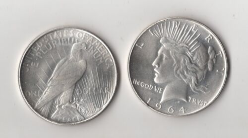 1964 D Peace Dollar Fantasy Issue Novelty Trick Coin AU