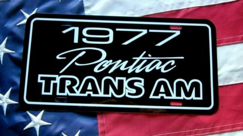 1977 Pontiac Trans Am  License plate tag 77 Firebird T/A