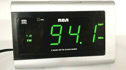 RP5420A RCA 2 Band AM/FM Dual Alarm Digital Clock Radio Aux In