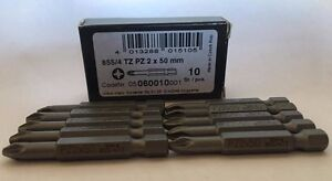 Wera 060010 855/4 Pozi Drive Wera Werk Drill Bit - Box of 10 PZ2 x 50mm NEW