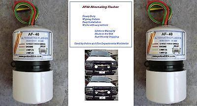 Alternating Headlight Wigwag Police Flasher- (set Of 2) Lifetime Warranty