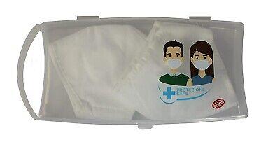 2x Maskenbox Aufbewahrungsbox Snips Transport Hülle Box Hygienisch OP-Masken
