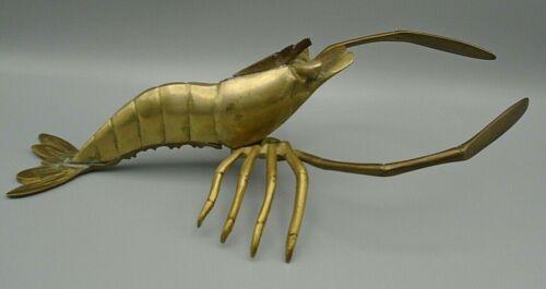 """Vintage Brass Lobster Figurine 11"""" x 6"""""""