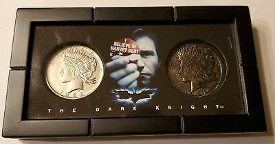 DC Comics Batman The Dark Knight Harvey Dent Two Face 2 Coin Set Display