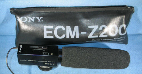 SONY Electret Condenser Microphone ECM-Z200 in Case
