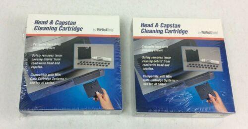 Lot of 2 Brand New PerfectData QIC 2000 Head & Capstan Cleaning Cartridge