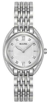 Bulova Classic Women's Quartz Diamond Accent Silver-Tone 30mm Watch 96R212