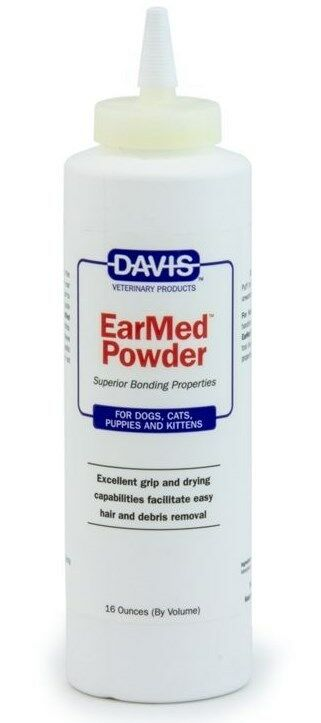 Davis EarMed Powder For Cats Dogs Puppies and Kittens 16 oz 473ml