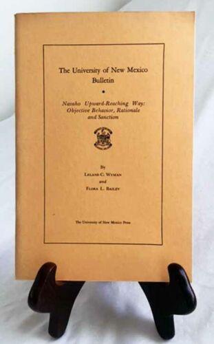 Navaho Upward-Reaching Way by Wyman & Bailey—Nice 1943 RARE Un. of NM Paperback